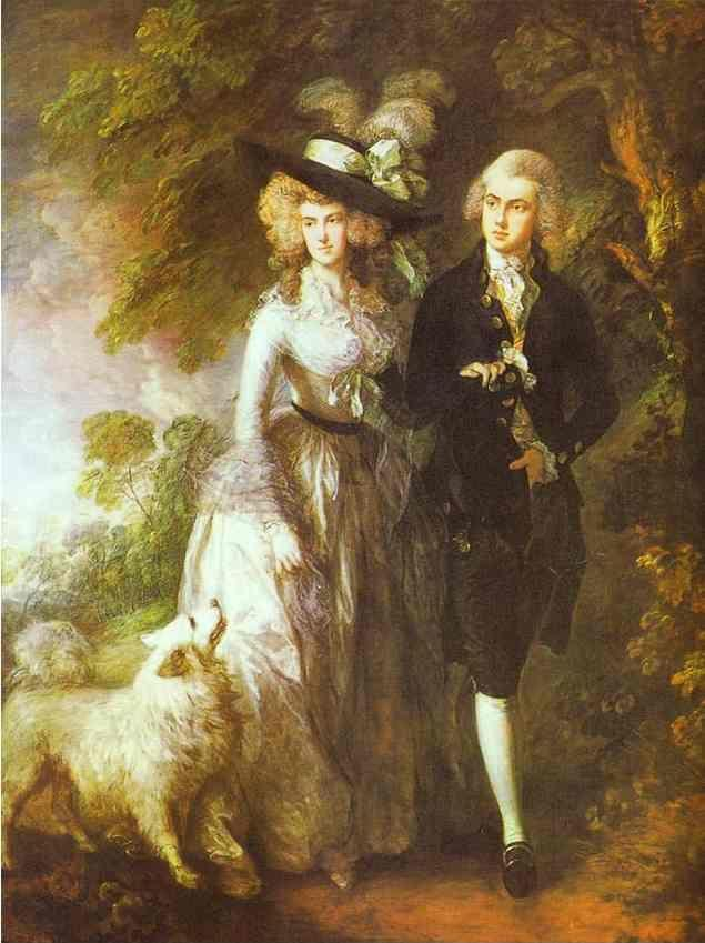 "Thomas Gainsborough. William Hallett and His Wife Elizabeth, nee Stephen, known as ""The Morning Walk""."