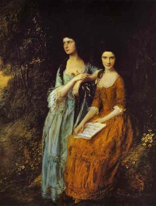 Thomas Gainsborough. The Linley Sisters.
