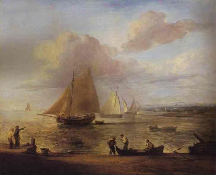 Thomas Gainsborough. Coastal Scene - a Calm.