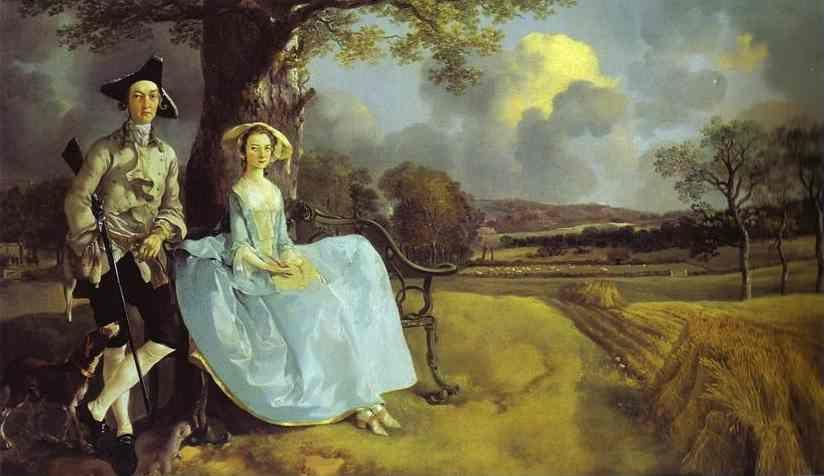 Thomas Gainsborough. Robert Andrews and His Wife Frances. Detail.