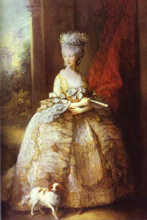Thomas Gainsborough. Portrait of Queen Charlotte.