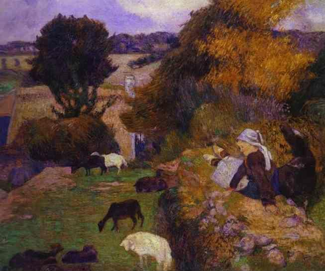 Paul Gauguin. Breton Shepherdess.
