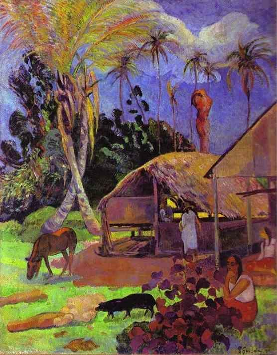 Paul Gauguin. Black Pigs.