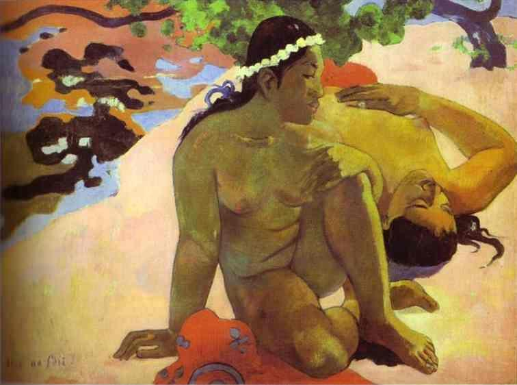Paul Gauguin. Aha oe feii? (Are You Jealous?).