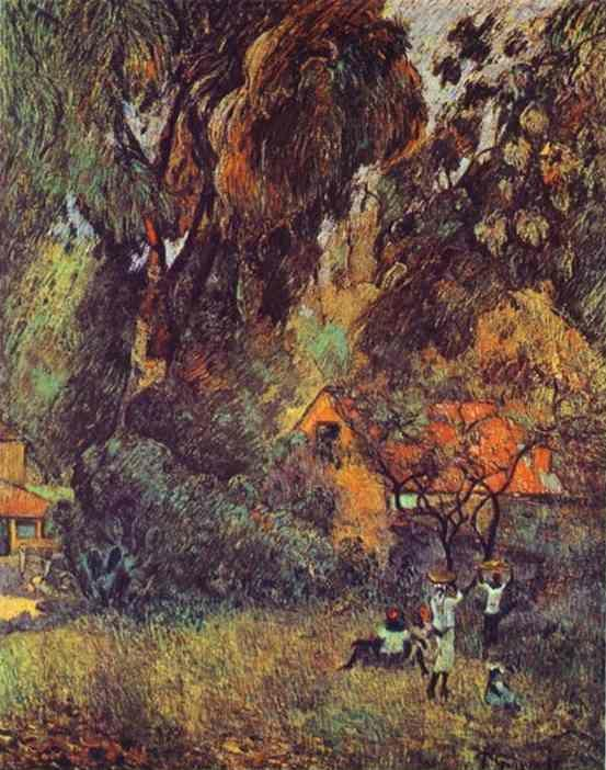 Paul Gauguin. Huts under Trees.