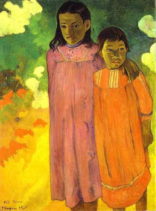 Paul Gauguin. Piti Teina. (Two Sisters).