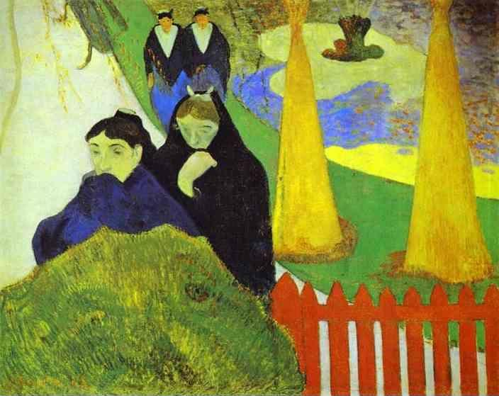 Attractive Women From Arles In The Public Garden, The Mistral.