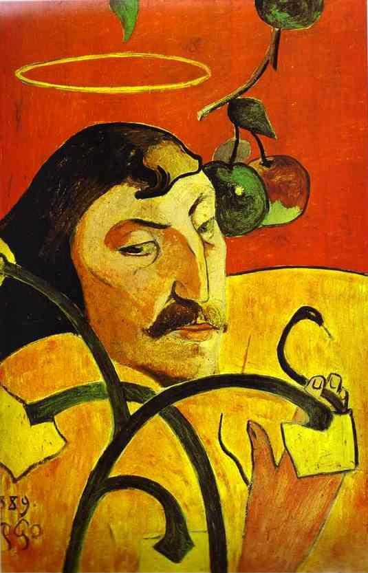 Paul Gauguin. Caricature Self-Portrait.