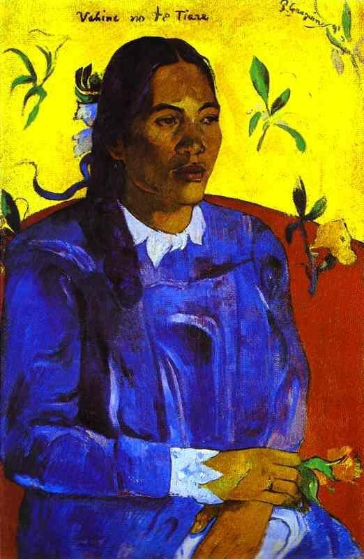 Paul Gauguin. Vahine no te tiare (Woman with a Flower).