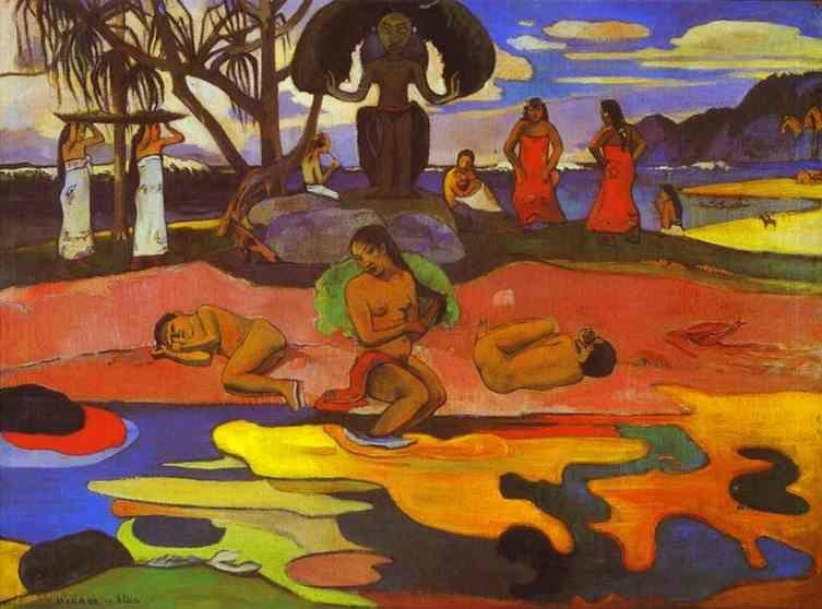 Paul Gauguin. Mahana no atua (Day of God).