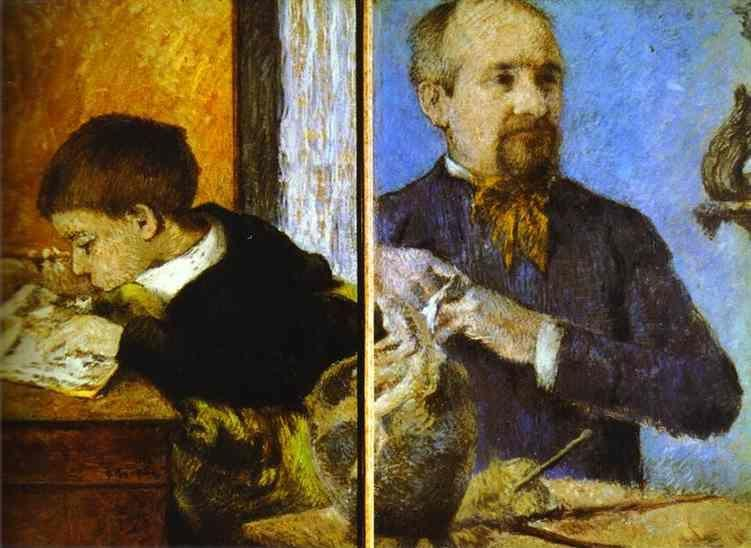Paul Gauguin. Aube the Sculptor and His Son.