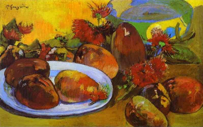Paul Gauguin. Still Life with Mangoes.
