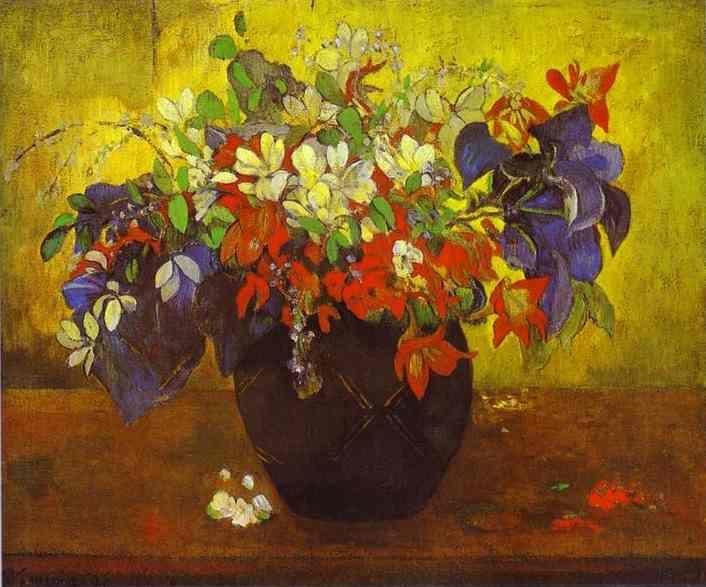 Paul Gauguin. Bouquet of Flowers.