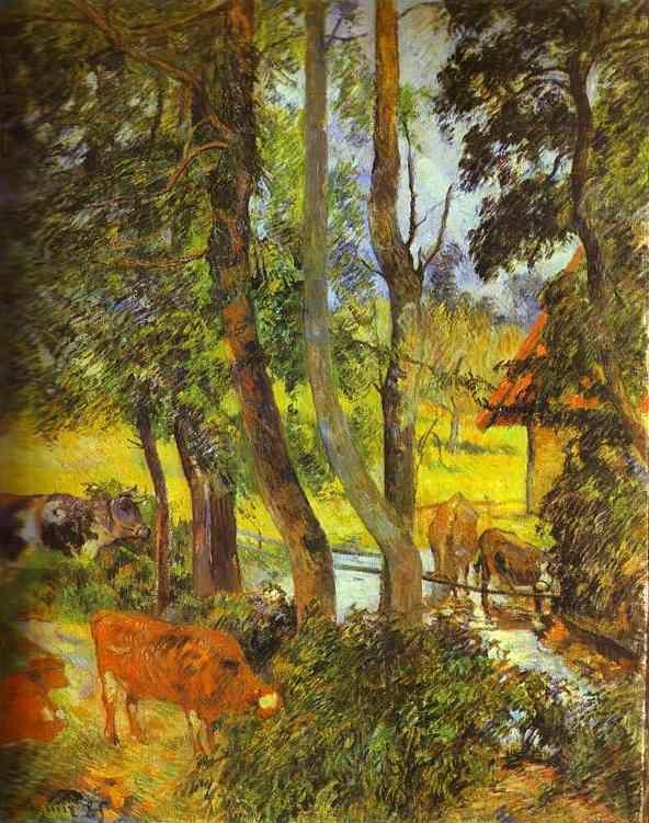 Paul Gauguin. Cattle Drinking.