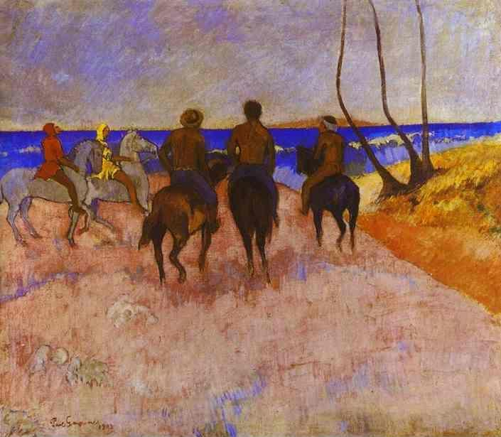 Paul Gauguin. Horsemen on the Beach.