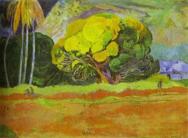 Paul Gauguin. Fatata te mouà (At the Foot of a Mountain).