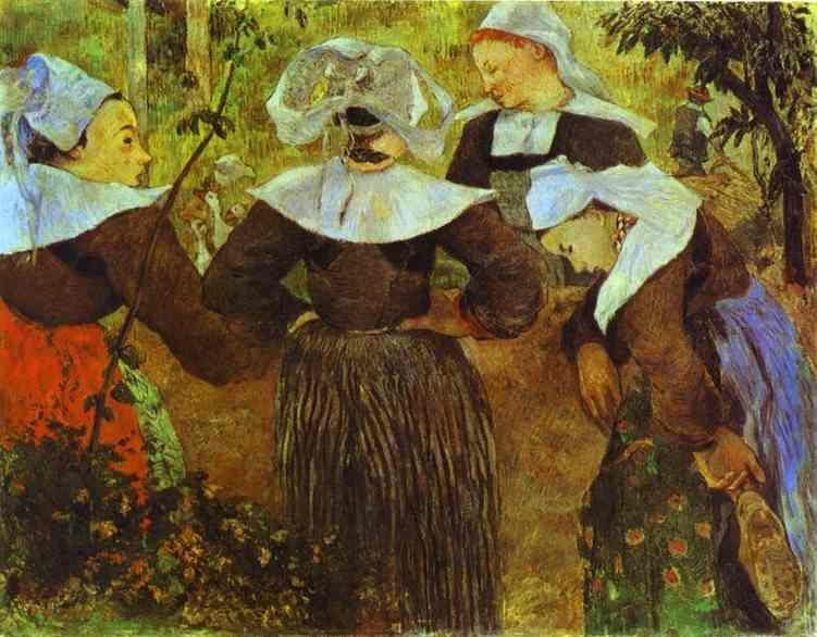 Paul Gauguin. The Four Breton Girls.