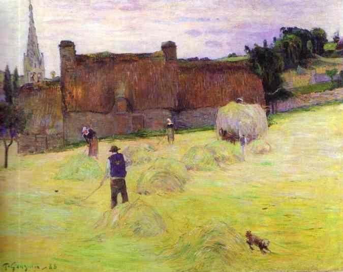 Paul Gauguin. Hay-Making in Brittany.