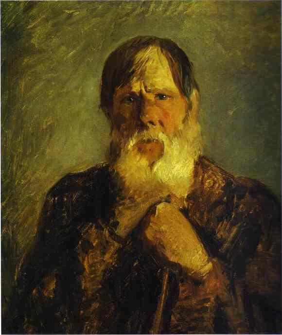 Nikolay Gay. An Old Peasant.