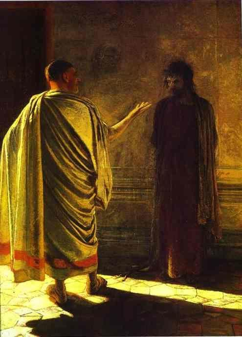 "Nikolay Gay. ""Quod Est Veritas?"" Christ and Pilate."