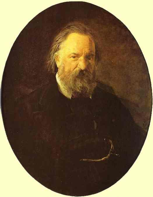 Nikolay Gay. Portrait of the Author Alexander Herzen.