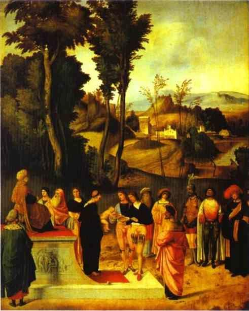 Giorgione. Moses' Trial by Fire.