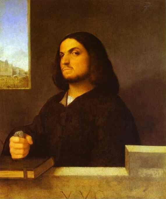 Giorgione and Titian. Portrait of a Venetian Gentleman.