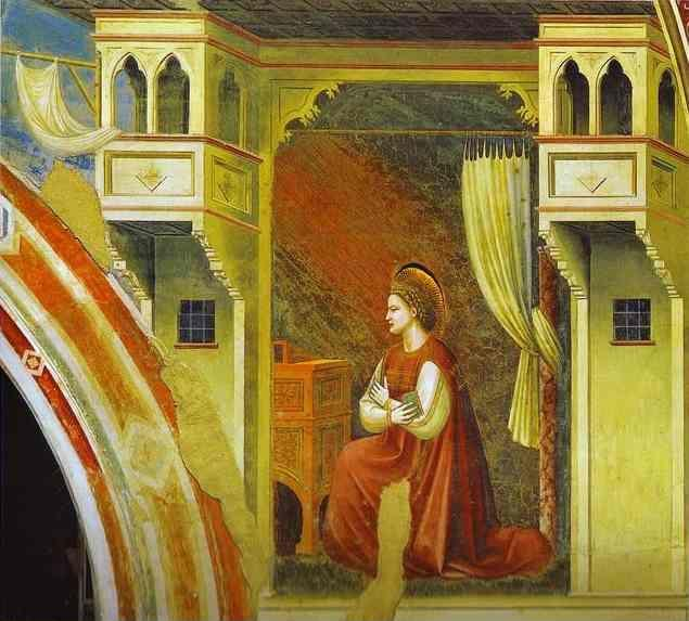 Giotto. The Angel of Annunciation.