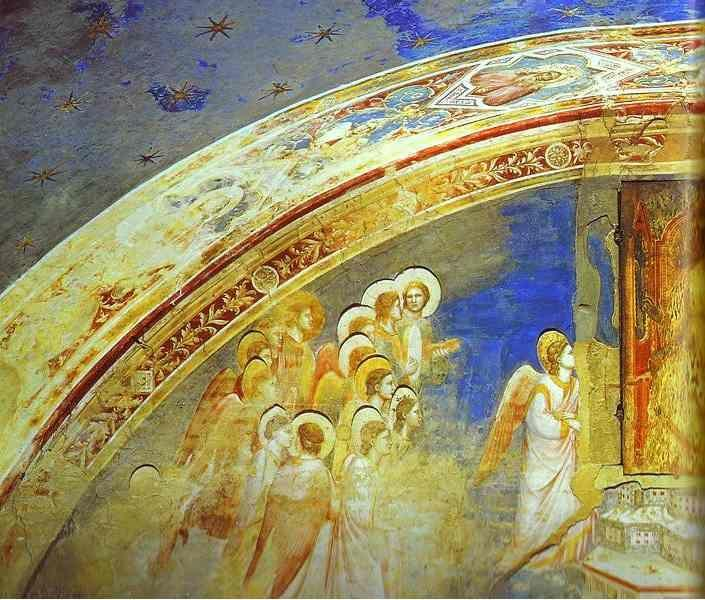 Giotto. The Mission of Archangel Gabriel. Detail.