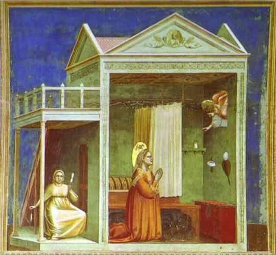 Giotto. The Angel Appearing to St. Anne.