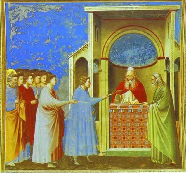 Giotto. The Bringing of the Rods.