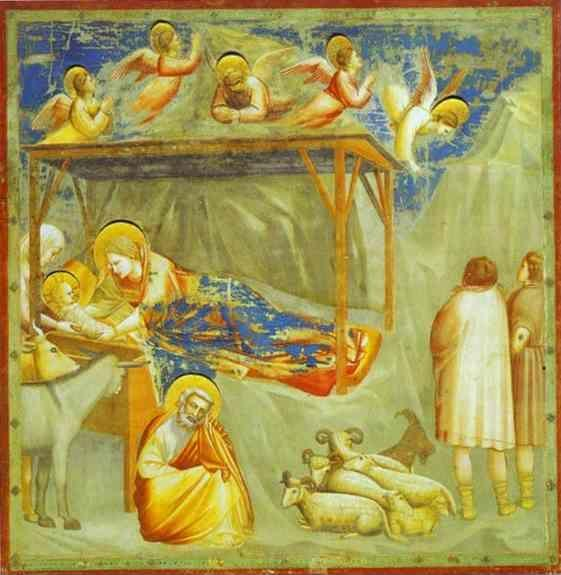 Giotto. The Nativity and Adoration of the Shepherds.