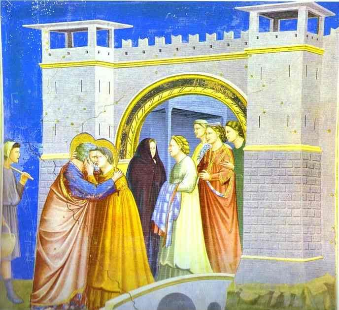 Giotto. Meeting at the Golden Gate.