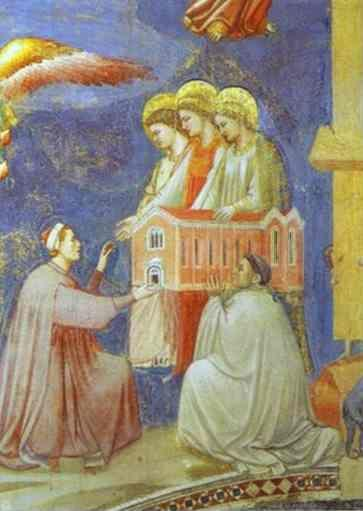 Giotto. The Last Judgement (Enrico Scrovegni Presents the Model of the Church to the Virgin Mary). Detail.