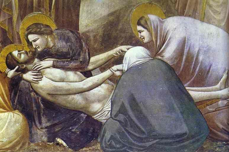 Giotto. Lamentation. Detail.