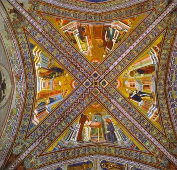 Giotto. Vault of the Doctors of the Church.