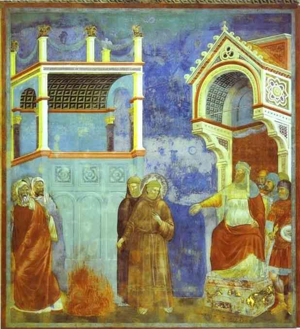 Giotto. St. Francis before Sultan.