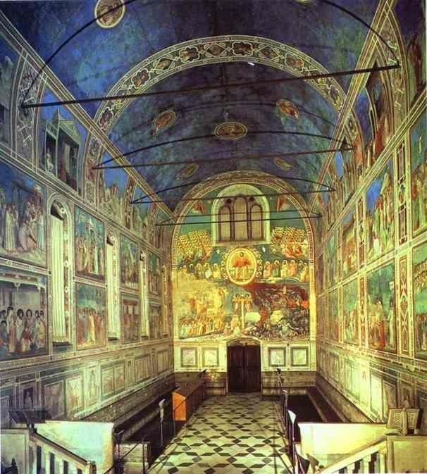 Giotto. View of the interior towards the entrance.