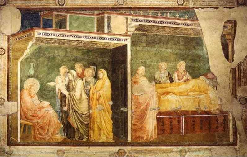Giotto. Birth and Naming of John the Baptist.
