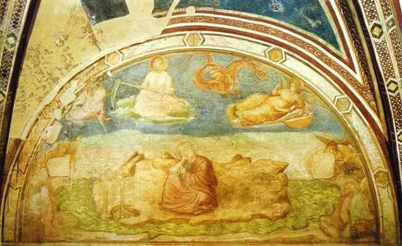Giotto. Vision of John the Evangelist on Patmos.