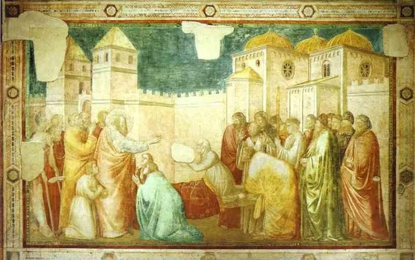 Giotto. Raising of Drusiana.