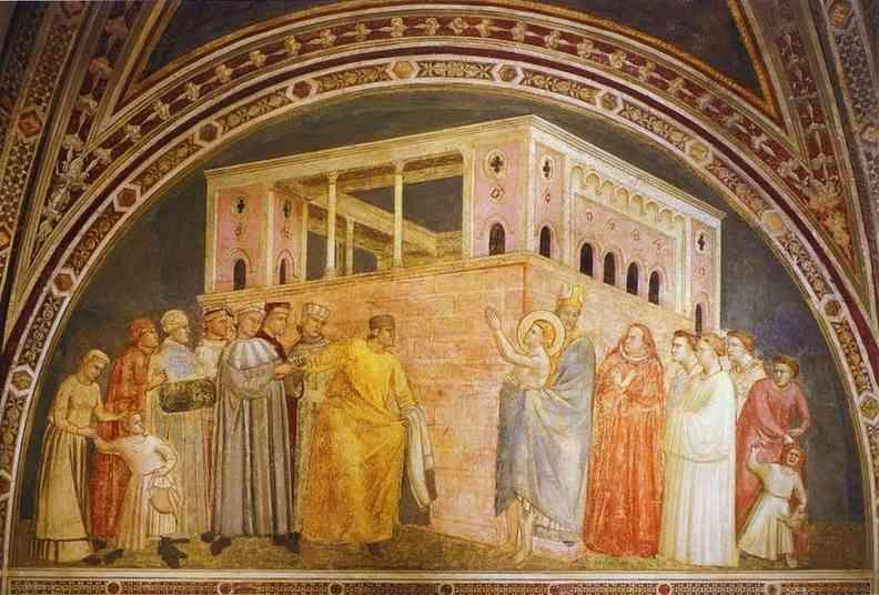 Giotto. Renunciation of Worldly Goods.