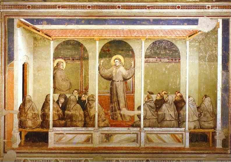 Giotto. Apparition at Arles.
