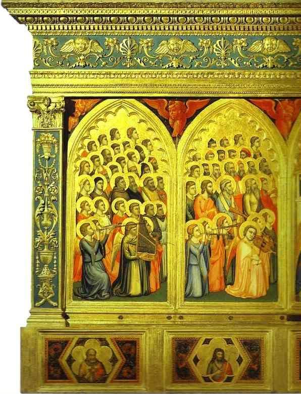 Giotto. Baroncelli Polyptych. Detail, left part.