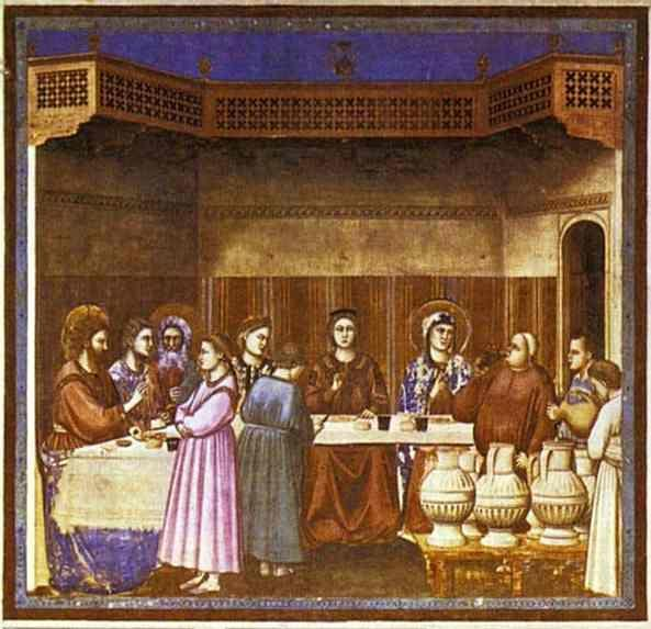 Giotto. The Wedding Feast at Cana.