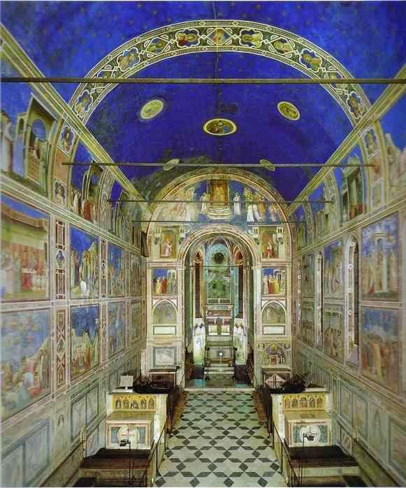 Giotto. View of the interior towards the apse.