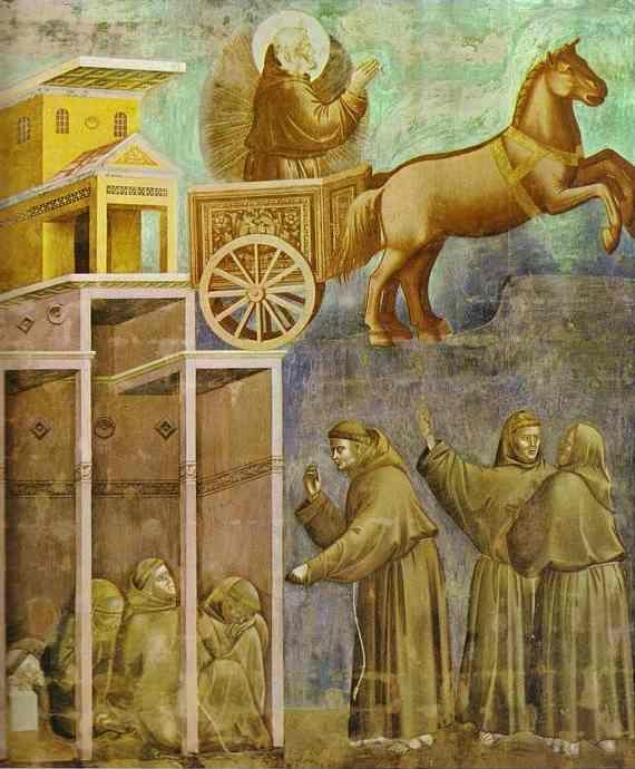 Giotto. The Vision of the Chariot of Fire.
