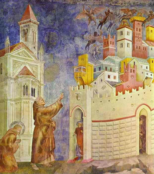 Giotto. The Expulsion of the Demons from Arezzo.
