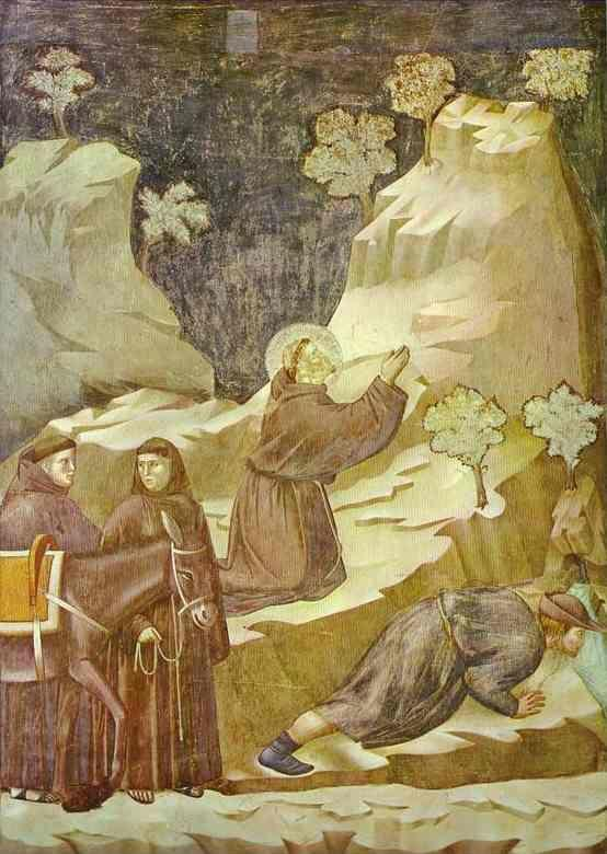 Giotto. The Miracle of the Spring.