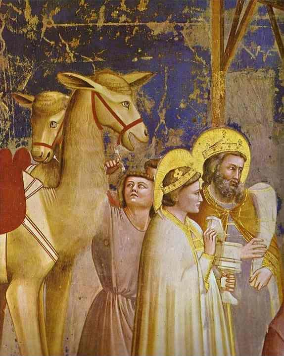 Giotto. The Adoration of the Magi. Detail.